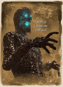 Electromagnetic Man by Jesse Mesa Toves for Boston Metaphysical Society Comic