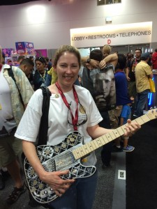 Steampunk Guitar at SDCC 2014