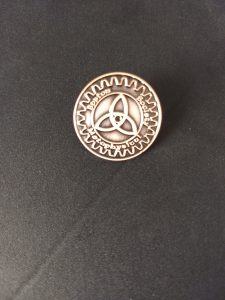 Boston Metaphysical Society Triquetra Lapel Pin
