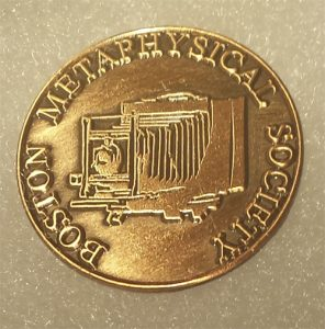 Boston Metaphysical Society Antique Camera Lapel Pin