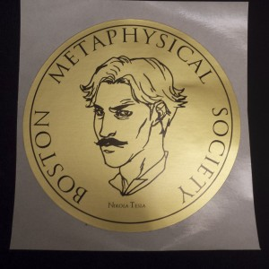 Boston Metaphysical Society Nikola Tesla Sticker