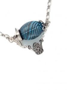 Glas Blown Dirigible Necklace by Dr. Brassy Steamington for Boston Metaphysical Society Comic